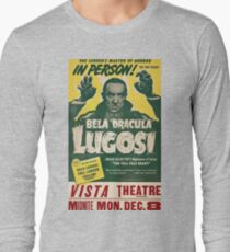 Dracula, vintage horror theater, movie poster Long Sleeve T-Shirt