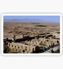 Remains of Alexander the Great's Castle in Qalat City, Afghanistan. Sticker