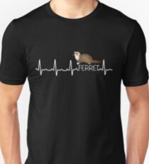 Heartbeat Of A Ferret  Lover Unisex T-Shirt