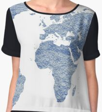 world map art 4 Chiffon Top