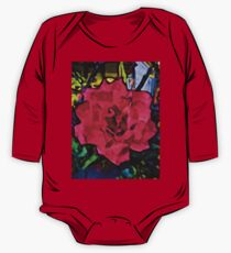 Strong Pink Rose One Piece - Long Sleeve