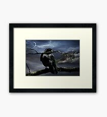 "Quoth The Raven, ""Nevermore"" Framed Print"