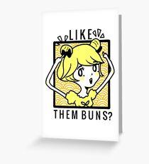 Golden Buns. Greeting Card