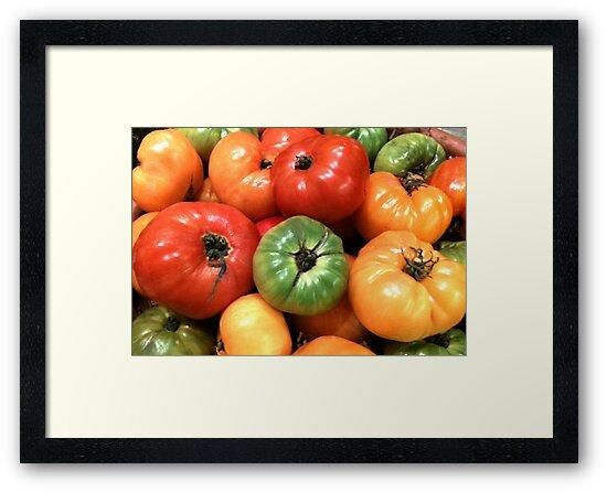 Heirloom Tomatoes by waddleudo