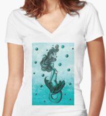 Mermaid Women's Fitted V-Neck T-Shirt