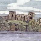 041 - BARNARD CASTLE, DURHAM - WATERCOLOUR & INK - 1985 by BLYTHART