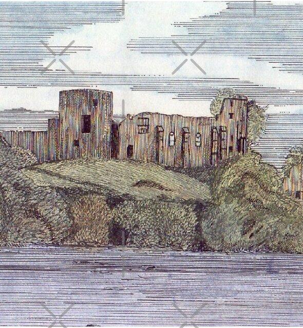 041 - BARNARD CASTLE, DURHAM - WATERCOLOUR & INK - 1985 by BLYTHART
