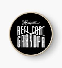Reel Cool Grandpa  Shirt Clock