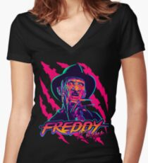 Freddy Krueger StayRad! Women's Fitted V-Neck T-Shirt