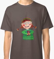 Girl with Teddy Classic T-Shirt