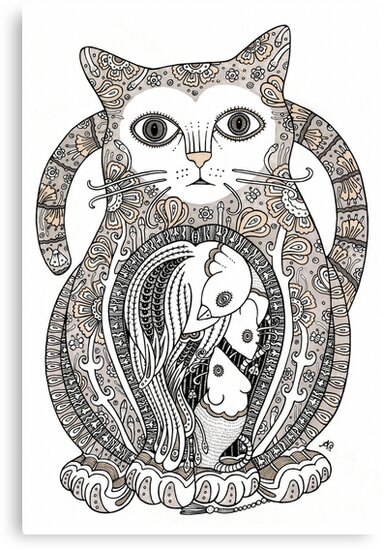 Contented Cat Tee by Anita Inverarity