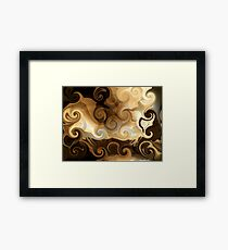 coffee with cream Framed Print