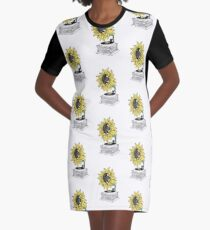 Singing in the sun Graphic T-Shirt Dress