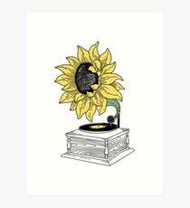 Singen in der Sonne Kunstdruck