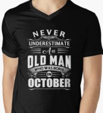 An old man who was born in October T-shirt T-Shirt