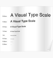 Typography scale - Helvetica - Golden ratio Poster