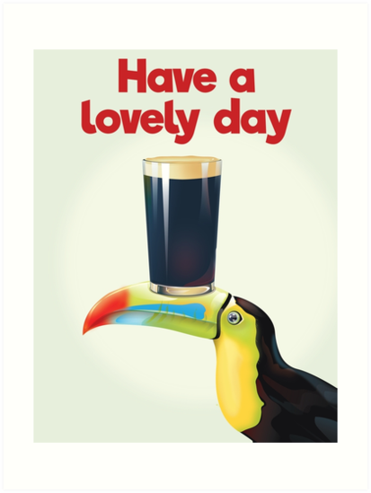Have A Lovely Day Quote Vintage Advert Art Prints By