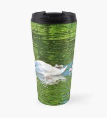 Proud parents . Swans and Cygnets Travel Mug