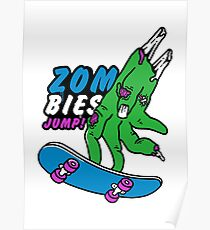 Zombies Jump Poster