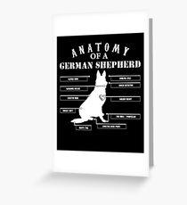Anatomy of A German Shepherd Shirt Greeting Card