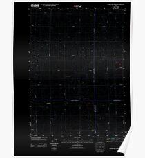 USGS TOPO Map Iowa IA Rush Lake West 20130415 TM Inverted Poster