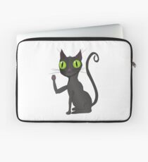 Black cat vector Laptop Sleeve