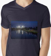 The iconic Melbourne Cricket Ground, Melbourne, Victoria, Australia. Mens V-Neck T-Shirt