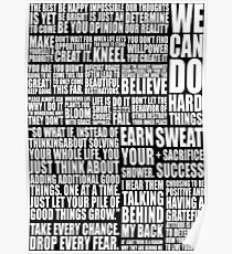 Positive & Gym Quote Poster