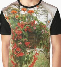 BLOOMS, BLOSSOMS AND BIRDS Graphic T-Shirt