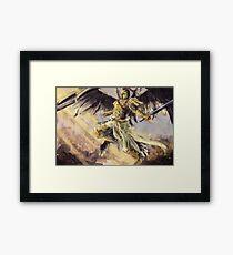 Engel in Kampfrüstung Gerahmtes Wandbild