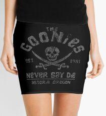 Die Goonies - Never Say Die - Grau auf Schwarz Minirock