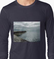 Calm and Peaceful Sea..........Lyme Dorset UK Long Sleeve T-Shirt