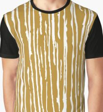 Golden-white lines Graphic T-Shirt