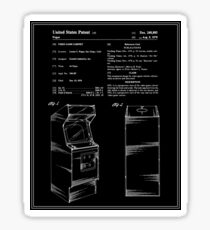 Arcade Game Patent - Black Sticker