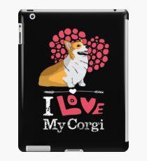 I Love My Corgi T-shirt iPad Case/Skin