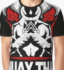 Muay Thai Honored Fighter - Thailand Martial Art Badge Graphic T-Shirt