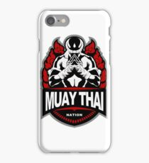 Muay Thai Honored Fighter - Thailand Martial Art Badge iPhone Case/Skin