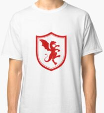 Simplistic Dragon Emblem - Dragons, Dragon Slayer, Red Dragon Gift and Apparel Classic T-Shirt