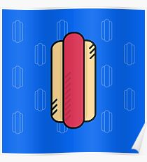 Cute Hot dog  Poster