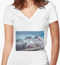 Glaciers on the top Women's Fitted V-Neck T-Shirt