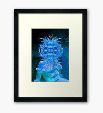 Blue Champagne Framed Print