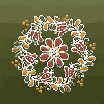 Hungarian Floral Pattern by vanderdys