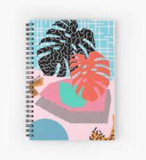 Cuaderno de espiral Memphis Palm // Patrón abstracto Memphis Tropical