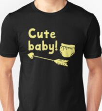 CUTE BABY with arrow and diaper Unisex T-Shirt