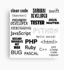 Programming languages. Quotes Canvas Print