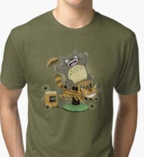 GIDDY UP NEKOBASU! Tri-blend T-Shirt