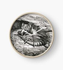 ICON ~ D1G1TAL-M00DZ ~ Thylacine Mother and Young by tasmanianartist Clock