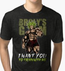 I WANT YOU TO TRAIN WITH ME - Broly's GYM Tri-blend T-Shirt