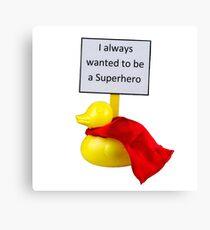 Superhero Duck Canvas Print