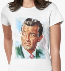 Robert Mitchum painting portrait Womens Fitted T-Shirt